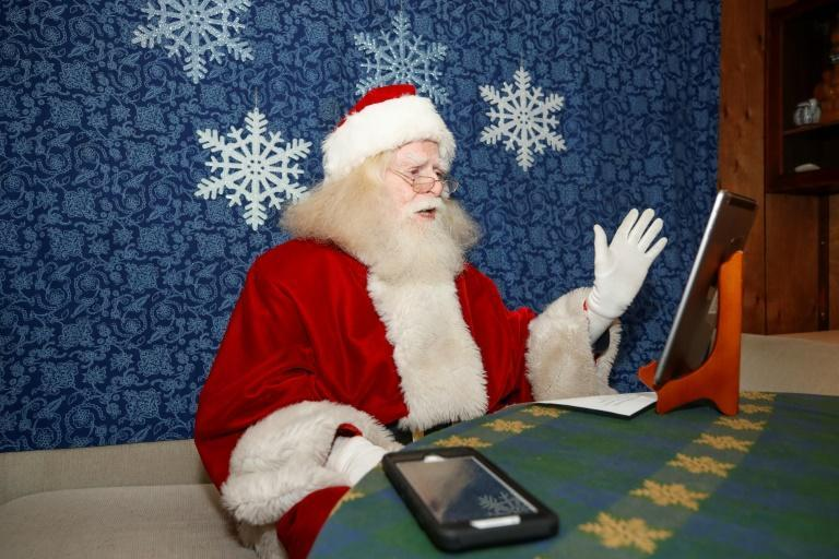 John Sullivan, an 81-year-old Santa from Streamwood, Illinois, has shifted to all virtual visits for the first time in his 30-year Santa career