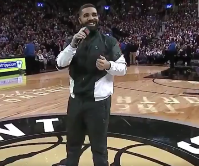Pre-game Drake predicted the Raptors would win, then made an intangible contribution to Toronto's final defensive stand.