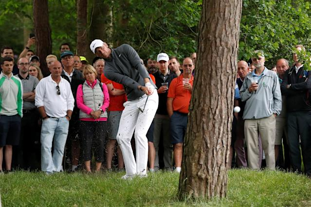 Golf - European Tour - BMW PGA Championship - Wentworth Club, Virginia Water, Britain - May 25, 2018 England's Chris Wood during the second round Action Images via Reuters/Paul Childs