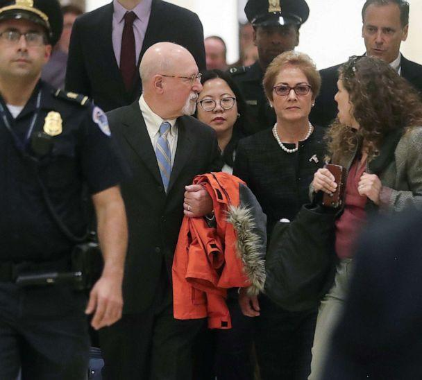 PHOTO: Former U.S. ambassador to Ukraine Marie Yovanovitch arrives to testify in the U.S. House of Representatives impeachment inquiry into President Trump on Capitol Hill in Washington, D.C., Oct. 11, 2019. (Jonathan Ernst/Reuters, FILE)