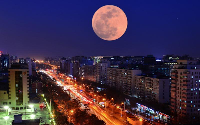 The 'blood moon' seen in China during an eclipse in January will be even more spectacular this week - Visual China Group