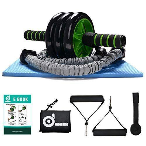 """<p><strong>Odoland</strong></p><p>amazon.com</p><p><strong>$34.99</strong></p><p><a href=""""https://www.amazon.com/dp/B01J2Y2J6M?tag=syn-yahoo-20&ascsubtag=%5Bartid%7C2140.g.32840936%5Bsrc%7Cyahoo-us"""" rel=""""nofollow noopener"""" target=""""_blank"""" data-ylk=""""slk:Shop Now"""" class=""""link rapid-noclick-resp"""">Shop Now</a></p><p>This abs trainer is the total package. It comes with a knee pad, a three-wheeled ab roller, a resistance band, and a carry bag to keep your tools organized whenever they're not in use. </p>"""