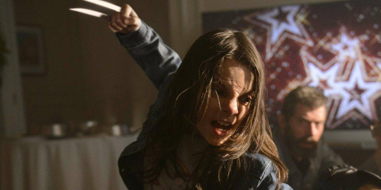 Dafne Keen as X-23 in 2017 superhero movie 'Logan'. (Credit: Fox)