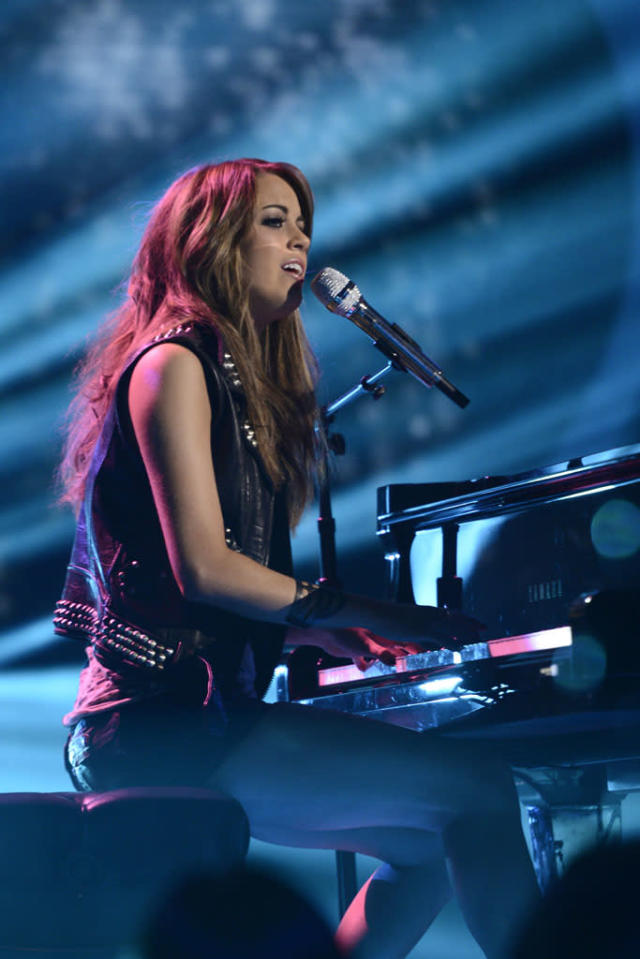 "Angie Miller performs ""Maybe"" on the Wednesday, May 8 episode of ""American Idol."""