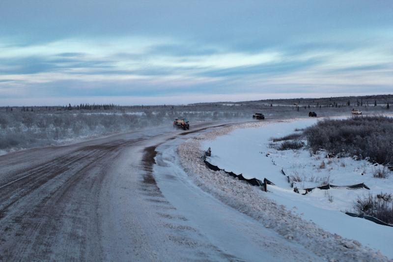 The new Canadian highway is expected to open up tourism to the remote Arctic region -- bringing new jobs (AFP Photo/Melinda TROCHU)