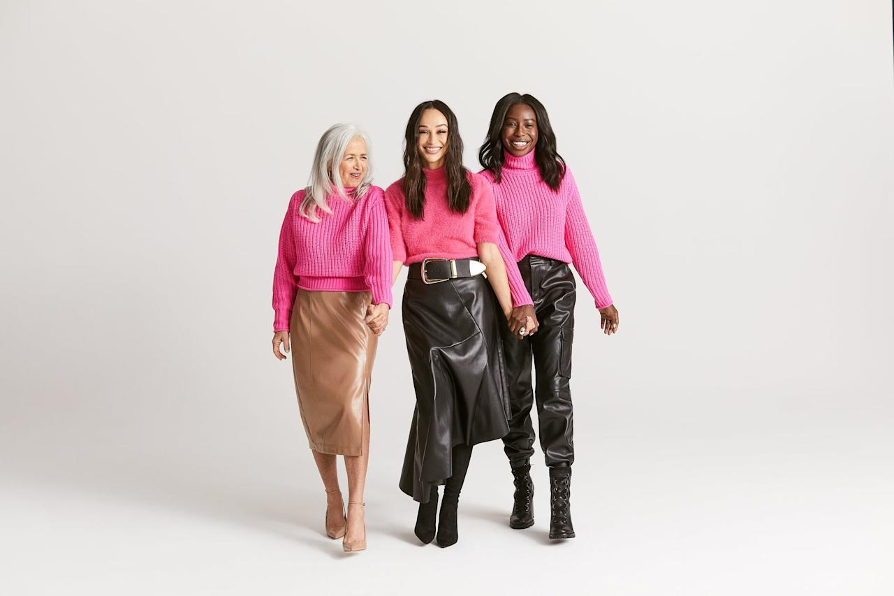 """<p>While Santana's collection includes <a href=""""https://www.popsugar.com/fashion/Fall-2019-Trends-45799416"""" class=""""ga-track"""" data-ga-category=""""Related"""" data-ga-label=""""https://www.popsugar.com/fashion/Fall-2019-Trends-45799416"""" data-ga-action=""""In-Line Links"""">wearable Fall trends</a> from tailored leather pieces to neon colors and bold suiting, she has a simple tip when it comes to experimenting with trends. </p> <p>""""Take your personal style and infuse it with whatever trends you see. People get all twisted and turned around when they take a trend and try to emulate something that they've seen on the runway that doesn't match who they are. What I would tell any woman getting dressed is, 'Who are you? Are you someone who feels comfortable in full leather? Are you someone who likes to be in flats? Someone who likes to be in heels?'. I think it's all about what your own personal style is,"""" she says. In other words, mix and match your favorite wardrobe staples with the trends you want to try.</p>"""