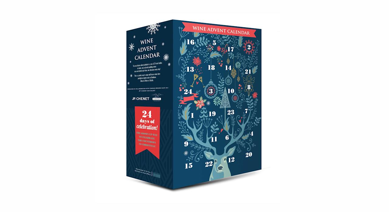 """<p>24 mini bottles of red, white, rose and fizz to take you through to Christmas . <a rel=""""nofollow"""" href=""""https://www.aldi.co.uk/wine-advent-calendar/p/079251184967900""""><em>Aldi, £49.99</em></a> </p>"""