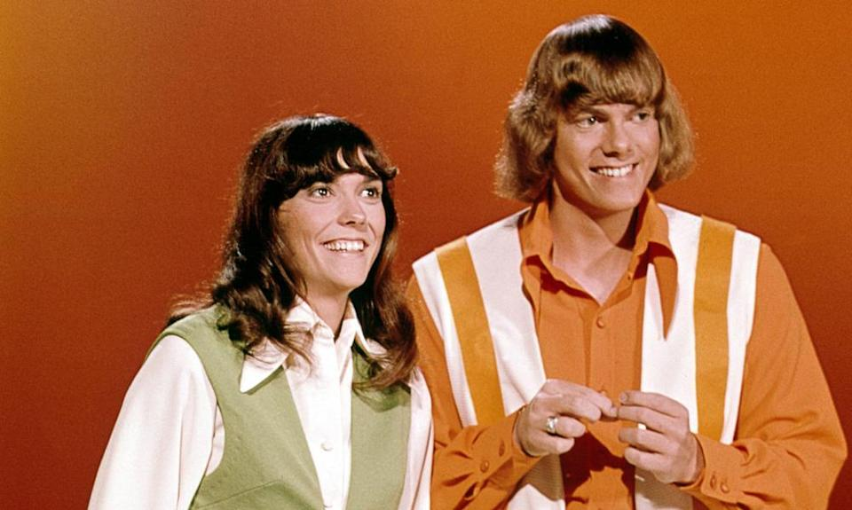Karen and Richard Carpenter in the TV series Make Your Own Kind of Music, 1971.