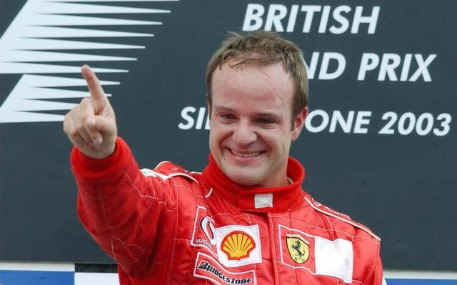Rubens Barrichello claimed the greatest victory of his career in the 2003 British Grand Prix (Rui Vieira/PA)