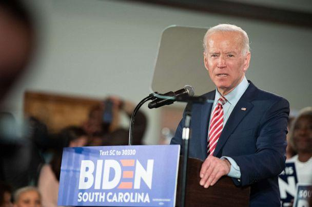 PHOTO: Democratic presidential candidate former Vice President Joe Biden addresses the crowd during a South Carolina campaign launch party, Feb. 11, 2020, in Columbia, South Carolina. (Sean Rayford/Getty Images)