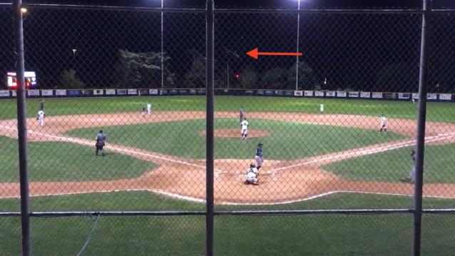 This bat flip from Starlin Rodriguez of the Barrie Baycats is truly incredible. (Twitter)