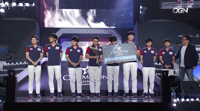 KT Rolster finishes second at the 2015 LCK Summer Finals (OnGameNet/Twitch)