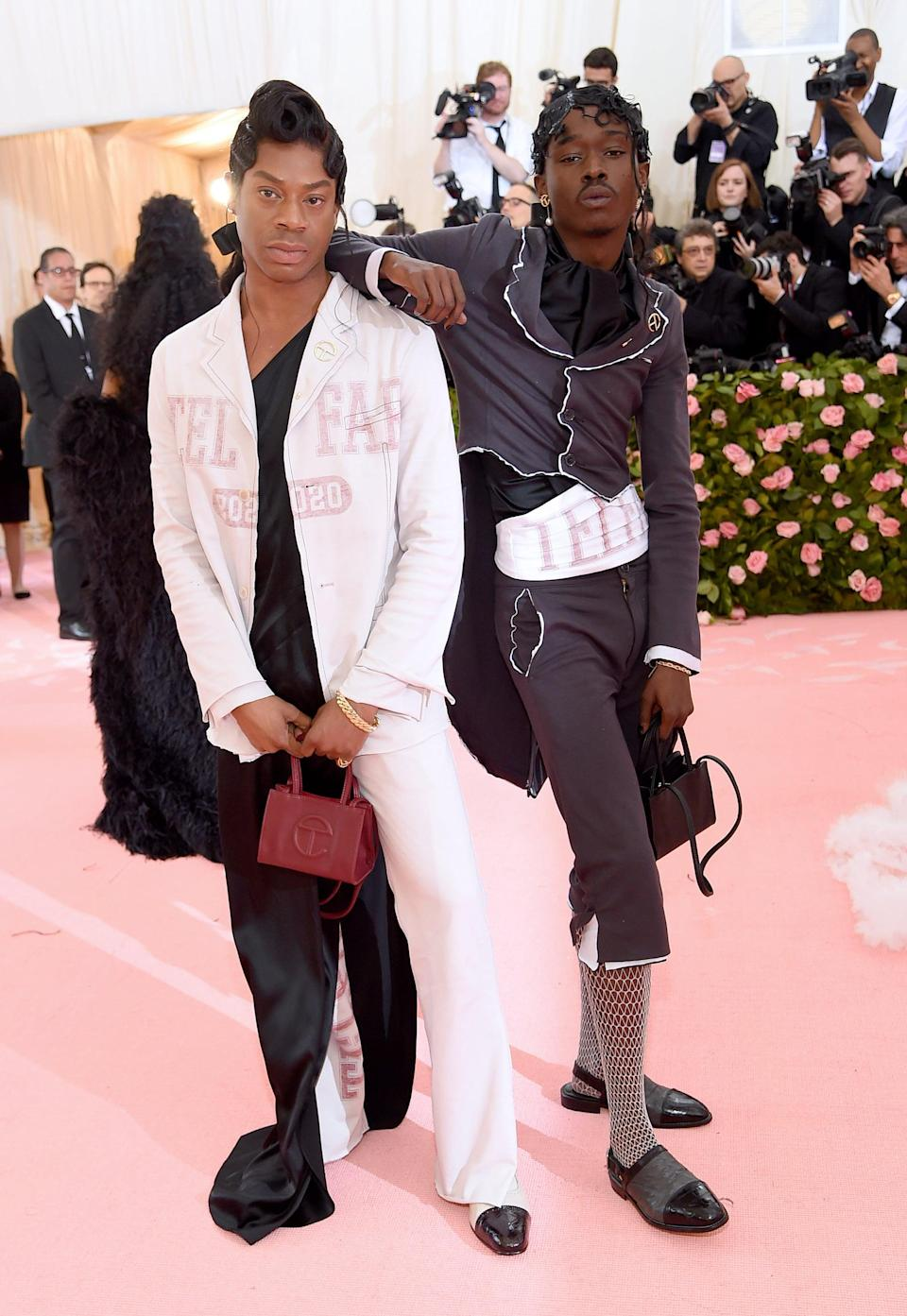 NEW YORK, NEW YORK - MAY 06:   Telfar Clemens and Ashton Sanders attend The 2019 Met Gala Celebrating Camp: Notes on Fashion at Metropolitan Museum of Art on May 06, 2019 in New York City. (Photo by Jamie McCarthy/Getty Images)