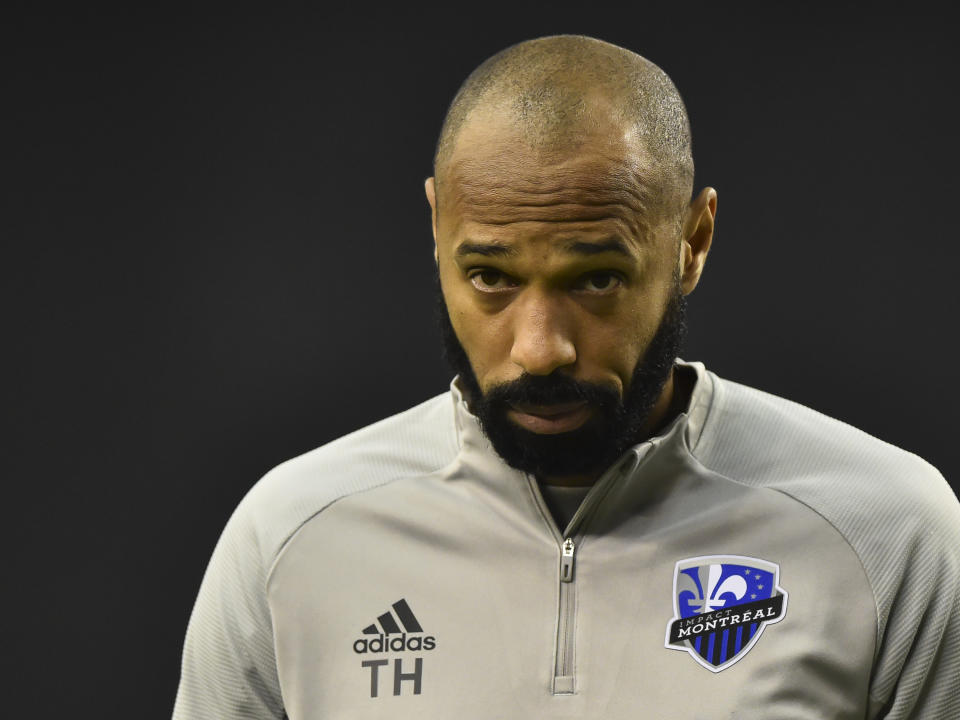 Montreal Impact coach Thierry Henry is a soccer icon in France, where the remainder of the Ligue 1 season was cancelled on Tuesday. (Minas Panagiotakis/Getty)