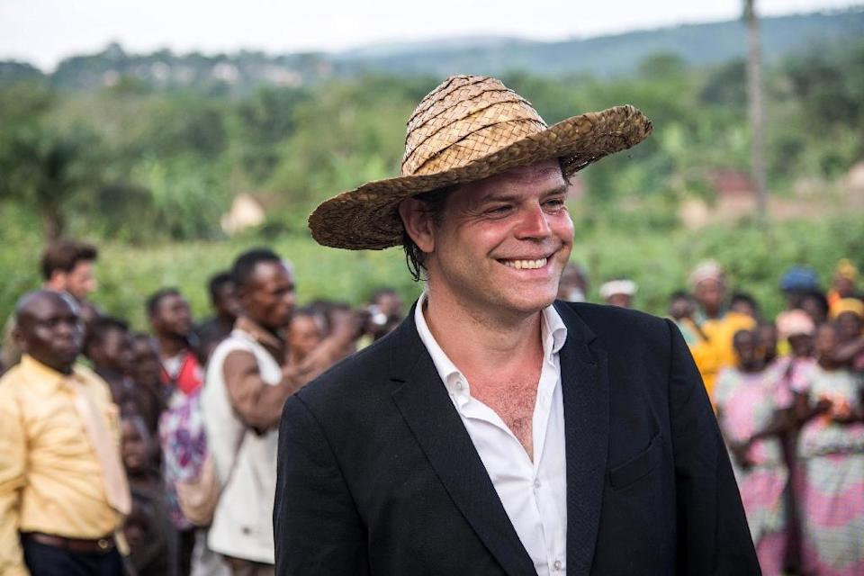 Dutch artist Rezon Martens, a backer of the Lusanga art centre, says plantations helped art in the West, now it's time to pay back (AFP Photo/Junior D. KANNAH)