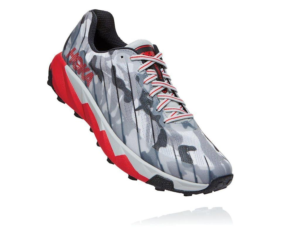 """<p><strong>Hoka One One</strong></p><p>hokaoneone.com</p><p><strong>$130.00</strong></p><p><a href=""""https://go.redirectingat.com?id=74968X1596630&url=https%3A%2F%2Fwww.hokaoneone.com%2Fhoka-xxterra-torrent%2Fhoka-x-xterra-torrent%2F1110019.html&sref=https%3A%2F%2Fwww.womenshealthmag.com%2Ffitness%2Fg19963922%2Fwinter-running-gear%2F"""" rel=""""nofollow noopener"""" target=""""_blank"""" data-ylk=""""slk:Shop Now"""" class=""""link rapid-noclick-resp"""">Shop Now</a></p><p>Keep your footing on wet, slippery ground or through snow-dusted trails with the help of these durable, editor-tested sneakers. Bonus: They're 100-percent <a href=""""https://www.womenshealthmag.com/fitness/g28980748/vegan-sneakers-brands/"""" rel=""""nofollow noopener"""" target=""""_blank"""" data-ylk=""""slk:vegan"""" class=""""link rapid-noclick-resp"""">vegan</a>, which is rare amongst <a href=""""https://www.womenshealthmag.com/fitness/g22853139/best-winter-running-shoes/"""" rel=""""nofollow noopener"""" target=""""_blank"""" data-ylk=""""slk:winter running shoes"""" class=""""link rapid-noclick-resp"""">winter running shoes</a>.</p>"""