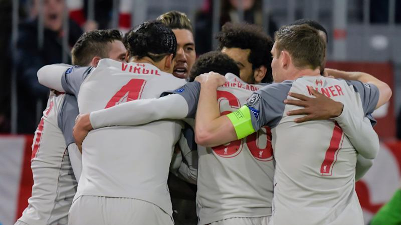 Liverpool celebrate vs Bayern, Champions League 2018-19