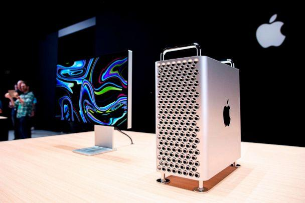 PHOTO: In this file photo taken on June 03, 2019, Apple's new Mac Pro sits on display in the showroom during Apple's Worldwide Developer Conference in San Jose, Calif. (Brittany Hosea-small/AFP/Getty Images, FILE)