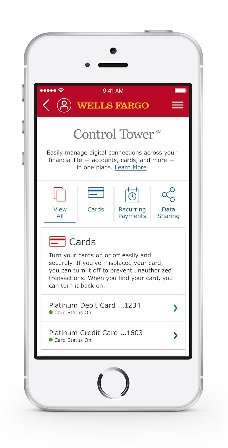 Wells Fargo Launches Control Tower Sm New Digital Experience For
