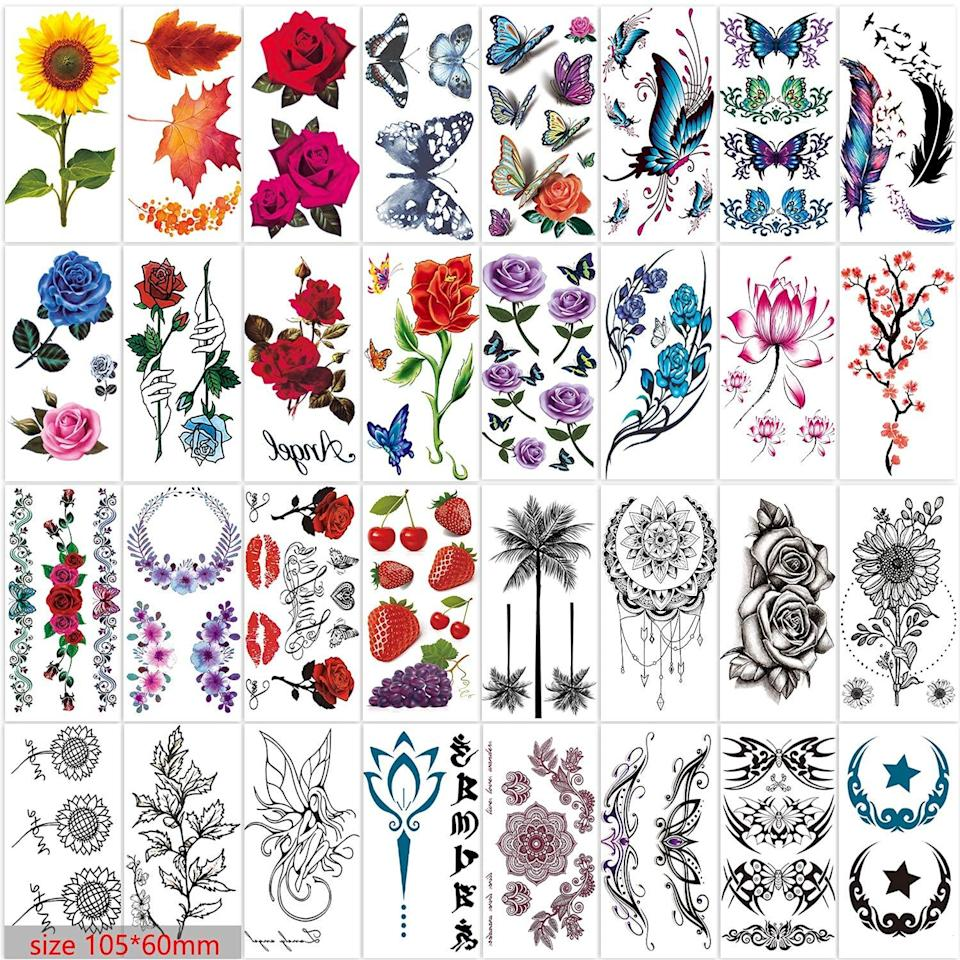 Zomme temporary tattoos, temporary tattoos for adults