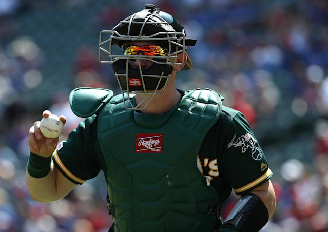 Sean Murphy becomes a must-start at catcher in the final days of the season. (Photo by Ronald Martinez/Getty Images)