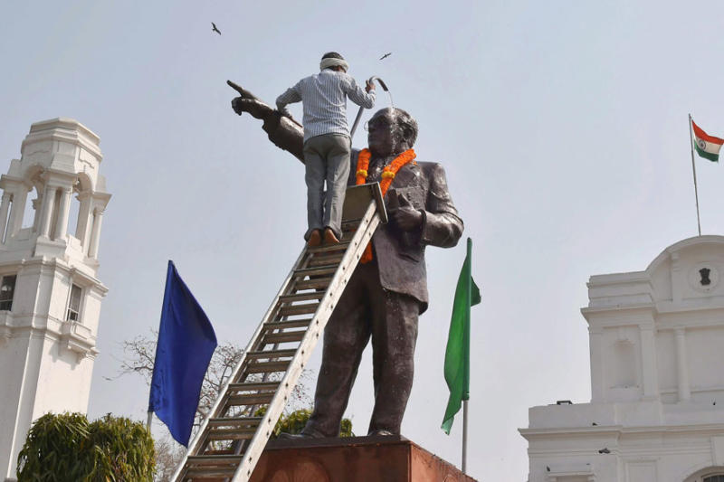 Another BR Ambedkar Statue Vandalized in Uttar Pradesh