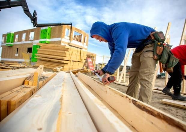 Construction in Newfoundland and Labrador continues to boom despite the price of lumber.  (Colleen De Neve for CBC News - image credit)