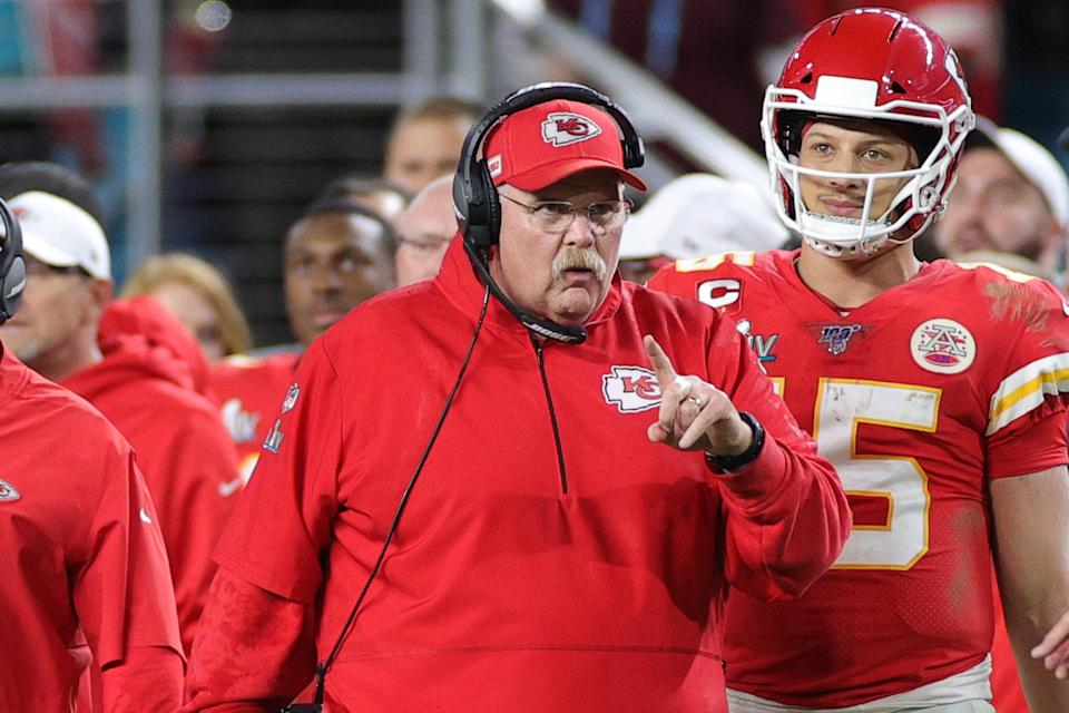 Andy Reid took the Kansas City Chiefs back to 1948 with one play in Super Bowl LIV. (Photo by Maddie Meyer/Getty Images)
