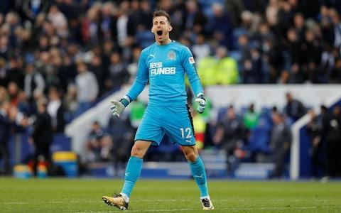 "Martin Dubravka was hyperactive as a child, a tiny tornado of pent up energy and constant chatter - a small boy who made a lot of noise. Other than his height, not much has changed. You may not have heard much of Dubravka - that he has been a revelation on Tyneside, that he is yet to concede a goal at St James' Park and has, without any real credit, been Newcastle United's best signing of the season. Dubravka was January's mystery man, a 6ft 3in Slovakian signed, initially on loan, without fanfare. He had impressed against both England and Scotland in the World Cup qualifying campaign, but still flew in under the radar. When he signed from Sparta Prague, few understood why Rafa Benitez had made him a priority target. He already had two senior goalkeepers, Rob Elliot and Karl Darlow jostling for places in his first XI, as well as England Under-19 World Cup winner Freddie Woodman waiting behind them. Indeed, it was Benitez's obsession with signing another goalkeeper that caused friction with those above him in the summer. Men in suits, without a coaching badge between them, still felt they were justified in questioning his judgement filling one of the team's most important positions. Martin Dubravka put in a match-winning performance in his first game for Newcastle Credit: Getty Images Dubravka knows nothing about that six-month power struggle, but he is the reason Benitez has won the argument. Since making his debut in a win over Manchester United, Newcastle have won four, drawn one and lost only once, away to Liverpool, to move well clear of relegation danger. A jittery defence has been becalmed by his sizeable presence, to the extent that tomorrow's meeting with Arsenal is now blissfully stress-free. ""When I signed in January, I didn't think for one second that I was joining a club that would be relegated,"" said Dubravka, who, along with his partner Lucia, has already fallen in love with the city and is desperate to make his loan move permanent. ""I was joining a club with a huge history and crazy fans, as soon as I got here I knew we would not go down. When you beat Manchester United in your first game, I knew we would do everything we needed to stay up. Martin Dubravka says he wants to take Newcastle into Europe Credit: Reuters ""This a club that deserves to be higher, to be in Europe again, but we have to take small steps. We need the manager to stay, he is the boss, he is the most important person. The manager and the owner, they have to work together and get Newcastle back to the level they should be at. ""I'm desperate to stay here, I know that already. The fans, they have been amazing, everywhere we go, they stop and talk. This is a proper football city, I love that, you feel it as soon as you get here."" At the age of 29, Dubravka is entering his prime as a goalkeeper, but he retains many of the same traits that led to his grandmother, driven to breaking point in a small apartment in Zilina, pushed him into football after a freak accident brought a swift end to his interest in ice hockey. ""I come from a family of goalkeepers,"" Dubravka, who once had a poster of his opposite number this weekend, Petr Cech, on his bedroom wall, explained. ""My father was a goalkeeper, my grandfather was a goalkeeper also, but I wanted to play in a different position at first. I liked to play football with my feet, but I don't know, things happen, it was probably my destiny. Martin Dubravka thanks his grandmother for introducing him to fooball Credit: Getty Images ""I was really small when I was young, probably the smallest in my class and my mum said: ""why do you want to be a goalkeeper?"" but things happen for a reason. ""The first person to bring me to football was my grandmother. We were really close, but I was hyper active as a child. I don't think I stopped talking. I drove her mad one day, bouncing around her apartment, leaping from sofa to sofa. I don't think she could take anymore. ""I was too active, I had too much energy, it had to be burned off. She said ""you need to go and do something outside. It was a small city, she knew some of the coaches and even though I was too young to play with that age group, she insisted. ""I didn't always listen when I was younger. I might have gone into ice hockey, but when I was five years old, I hurt myself really badly. It was a family BBQ and I was chopping some wood with a machete. My parents were saying, stop that, stop that, you are going to hurt yourself, but…. I put it in my leg. My parents had told me 100 times. It was a bad injury and I still have a big scar. ""If it was a few millimetres higher the doctors said I would have had trouble walking and there would have been no chance of me becoming a goalkeeper. I was unlucky, but lucky at the same time. You know, maybe this was meant to be. Mike Ashley to renew efforts to sell Newcastle ""I probably would never had played football. The thing is, I could not skate for a while, so I played football instead."" It has not just been Dubravka's ability as a goalkeeper that has made a difference, it is, according to Benitez ""the way he communicates with the defenders"" that is so important. Even on his debut against Manchester United, Dubravka was confident and outspoken enough to cajole and guide those in front of him, something he learned from his idol, Cech. Dubravka speaks English fluently, language skills picked up while playing for Esbjerg in Denmark and the chatter that once drove his grandmother to distraction is now put to better use. ""I don't think you have to be crazy to be a goalkeeper, I don't do anything that is not natural for me,"" he added. ""I'm not aggressive, but I have a lot of energy. I talk a lot, I always try to speak to my defenders, I think that is the way it should be. ""I don't think they get annoyed… they are glad I say things to them. If I don't speak to them, they look at me like something is wrong. I guess that is what they expect from me. As I said, I was hyperactive as a child…."" Newcastle will, if Benitez has his way, be extremely active in the transfer market again this summer, but the Spaniard will not be looking for another goalkeeper. That position has already been filled."