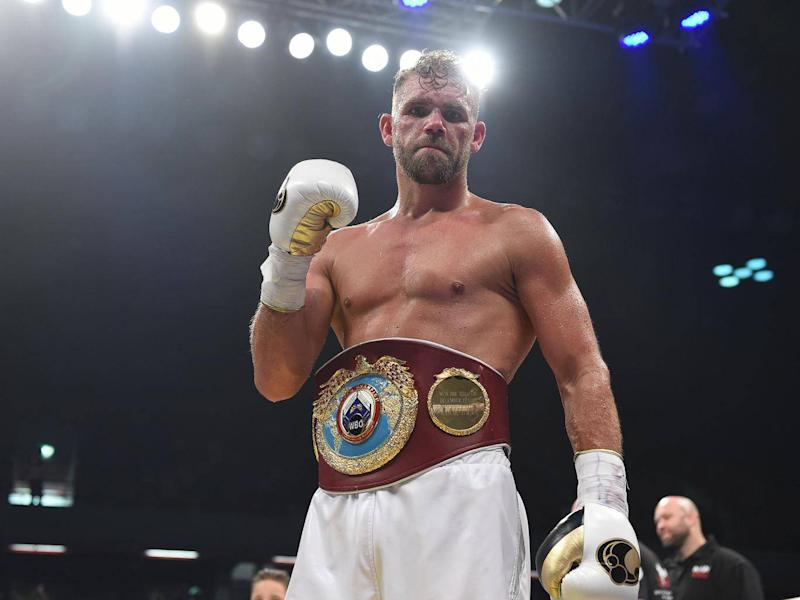 Billy Joe Saunders was been accused of throwing half-a-chicken at Deontay Wilder (Getty)
