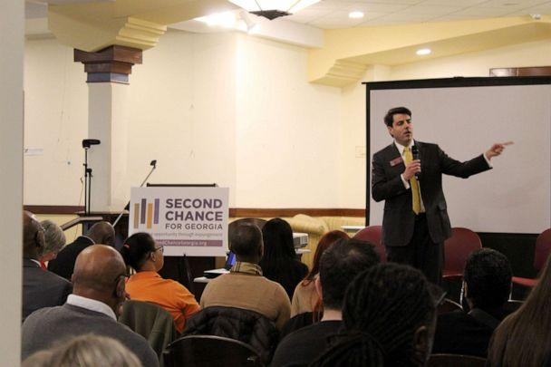 PHOTO: Rep. Chuck Efstration, chair of House Judiciary Non-Civil Committee, speaks at a Second Chance event, Feb. 11, 2020, in Atlanta. (Erika Curtis, Georgia Justice Project)