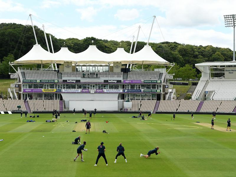 The Ageas Bowl hosts the return of Test cricket: Images