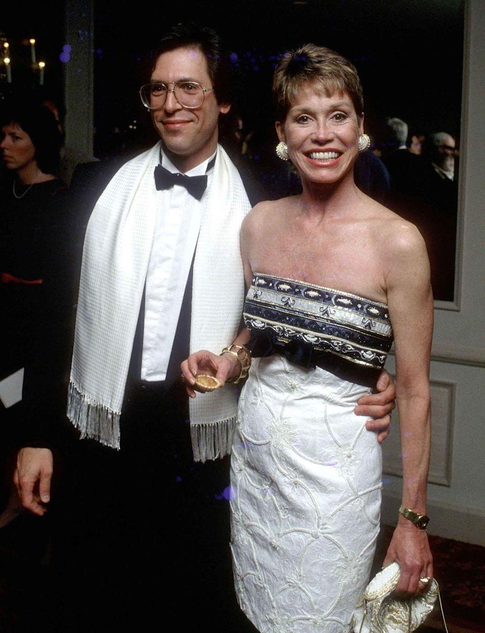 <p>Mary Tyler Moore attends a dinner gala with her husband Dr. Robert Levine.</p>