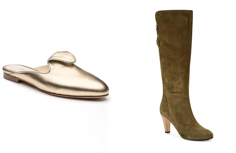 The Andrea slide and the Marina boot by Sarah Flint