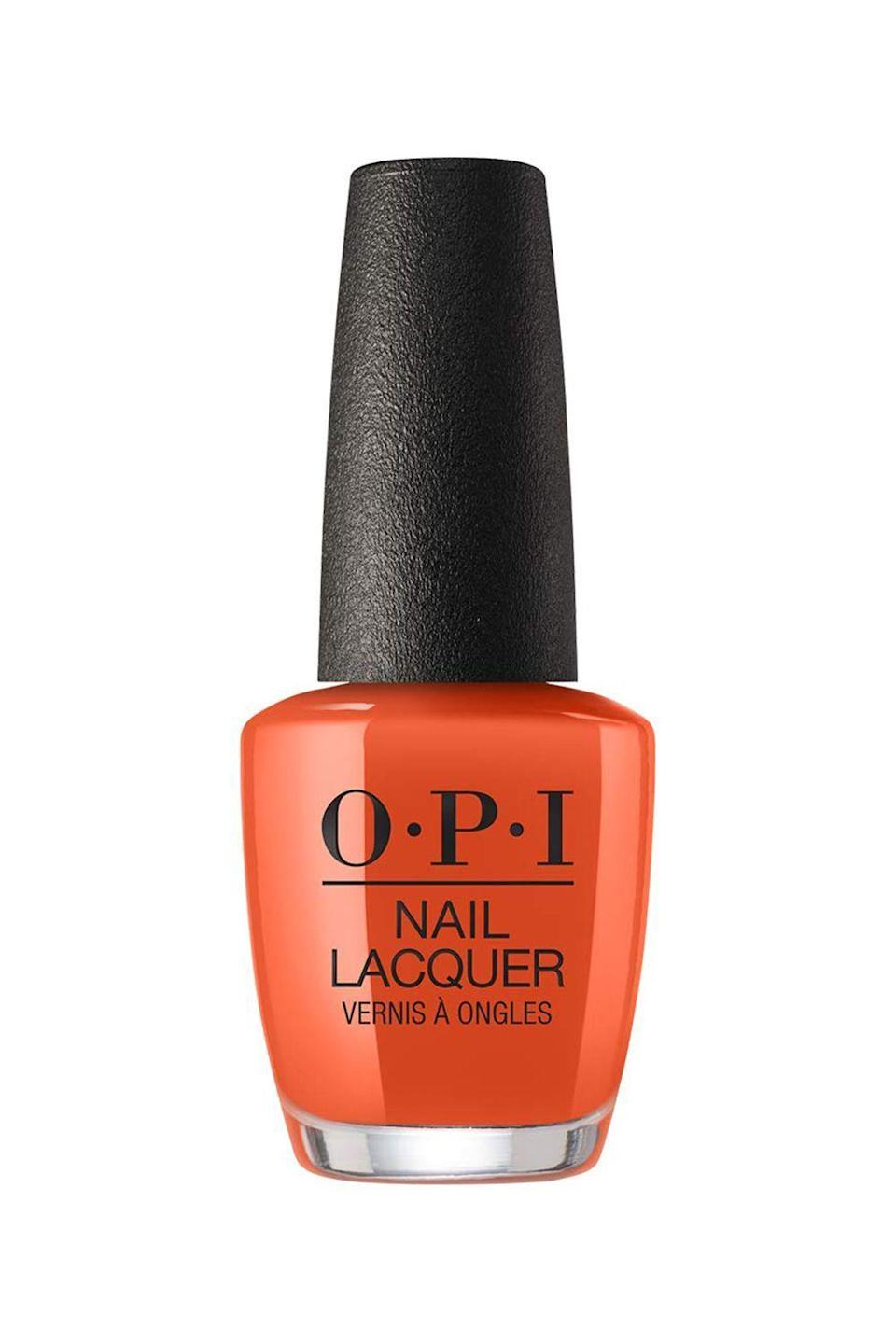 """<p><strong>OPI Nail Laquer in Suzi Needs a Loch-Smith</strong></p><p>ulta.com</p><p><strong>$100.00</strong></p><p><a href=""""https://go.redirectingat.com?id=74968X1596630&url=https%3A%2F%2Fwww.ulta.com%2Fscotland-nail-lacquer-collection%3FproductId%3Dpimprod2008446&sref=https%3A%2F%2Fwww.marieclaire.com%2Fbeauty%2Fg3965%2Ffall-nail-colors%2F"""" rel=""""nofollow noopener"""" target=""""_blank"""" data-ylk=""""slk:SHOP IT"""" class=""""link rapid-noclick-resp"""">SHOP IT</a></p><p>Nothing will feel more fall (and excusably basic) than wearing this apricot orange hue while sipping your pumpkin-spiced latte to match.</p>"""