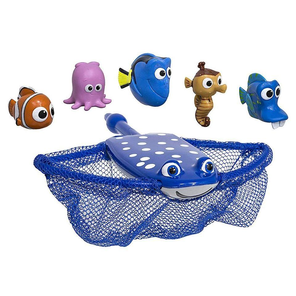 """<p><strong>SwimWays</strong></p><p>amazon.com</p><p><a href=""""https://www.amazon.com/dp/B0171TRGTA?tag=syn-yahoo-20&ascsubtag=%5Bartid%7C2089.g.36560252%5Bsrc%7Cyahoo-us"""" rel=""""nofollow noopener"""" target=""""_blank"""" data-ylk=""""slk:Shop Now"""" class=""""link rapid-noclick-resp"""">Shop Now</a></p><p>Your kids will have a blast catching their favorite characters from <em>Finding Dory</em>. Just use the Mr. Ray net to gather Nemo, Dory, and their friends, and they're sure to have a pool day full of fun.</p>"""