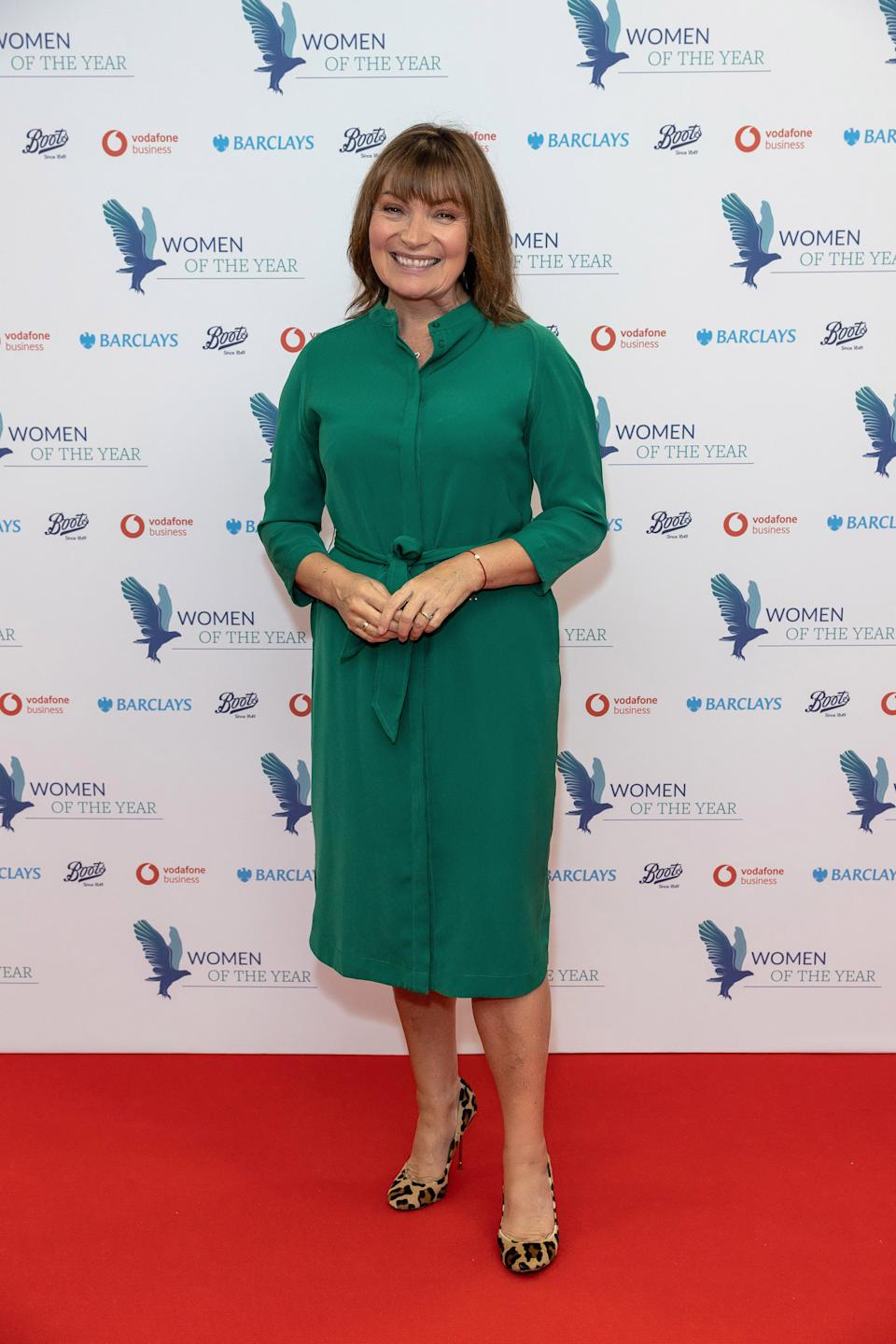 LONDON, ENGLAND - OCTOBER 12:  Lorraine Kelly ( Presenting The Women of the Year Community Spirit Award ) attends the Women of the Year Awards on October 12, 2020 in London, England. (Photo by David M. Benett/Dave Benett/Getty Images for Women of the Year Awards )