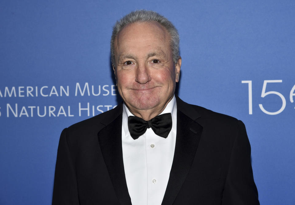 """FILE - In this Nov. 21, 2019, file photo Producer Lorne Michaels attends the American Museum of Natural History's 2019 Museum Gala in New York. The Kennedy Center Honors is returning in December with a class that includes Motown Records creator Berry Gordy, """"Saturday Night Live"""" mastermind Lorne Michaels and actress-singer Bette Midler. Organizers expect to operate at full capacity, after last year's Honors ceremony was delayed for months and later conducted under intense COVID-19 restrictions. (Photo by Evan Agostini/Invision/AP, File)"""