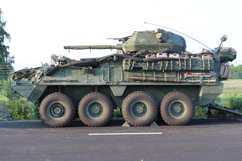 US Army Stryker armored vehicle Czech Republic