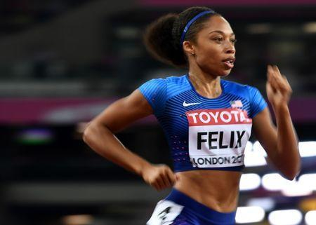 Athletics - World Athletics Championships - Women's 400 Metres Semi-Final - London Stadium, London, Britain – August 7, 2017. Allyson Felix of the U.S. in action. REUTERS/Dylan Martinez