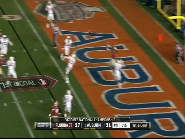 During a baseball rain delay, Jameis Winston recreated his BCS-winning TD pass (Video)