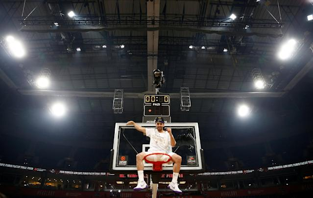 Basketball - Euroleague Final Four Final - Real Madrid vs Fenerbahce Dogus Istanbul - Stark Arena, Belgrade, Serbia - May 20, 2018 Real Madrid's Facundo Campazzo celebrates after the match REUTERS/Alkis Konstantinidis TPX IMAGES OF THE DAY