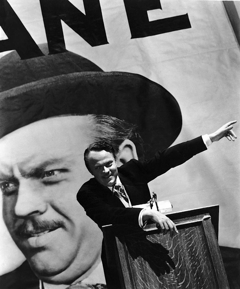 """<a href=""""http://movies.yahoo.com/movie/1800020981/info"""">Citizen Kane</a> (1941): Who better personified the drive for bigger and better and more stuff than Charles Foster Kane? Just take a look at Xanadu, the palatial estate crammed with all the crap the millionaire newspaper tycoon amassed. He rose from poverty and began his career as an idealist, but Kane's desire for more newspapers, power and influence became all-consuming, until he died alone and shrouded in mystery. It's the archetypal rise-and-fall story, and the larger-than-life persona of director, co-writer and star Orson Welles, both on screen and in real life, added to the intrigue. Plus, you know, it's largely considered the greatest film ever made. No biggie."""