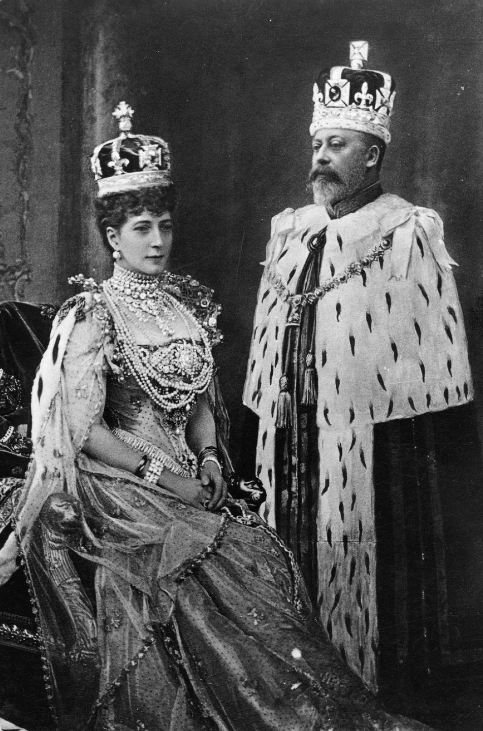 "<p>It's been reported that King Edward VII, who ruled the United Kingdom from 1901–1910, <a href=""https://www.thrillist.com/entertainment/nation/royal-affairs-kings-and-queens-who-had-mistresses-and-illegitimate-children"" rel=""nofollow noopener"" target=""_blank"" data-ylk=""slk:had more than 50 affairs"" class=""link rapid-noclick-resp"">had more than 50 affairs</a>, including with Winston Churchill's mom. He's presumed to have fathered many children outside his marriage, though he never acknowledged them. He had six legitimate heirs to the throne with his wife Queen Alexandra, including Queen Elizabeth II's grandfather George V. Sadly, one of the six died as a child.</p>"