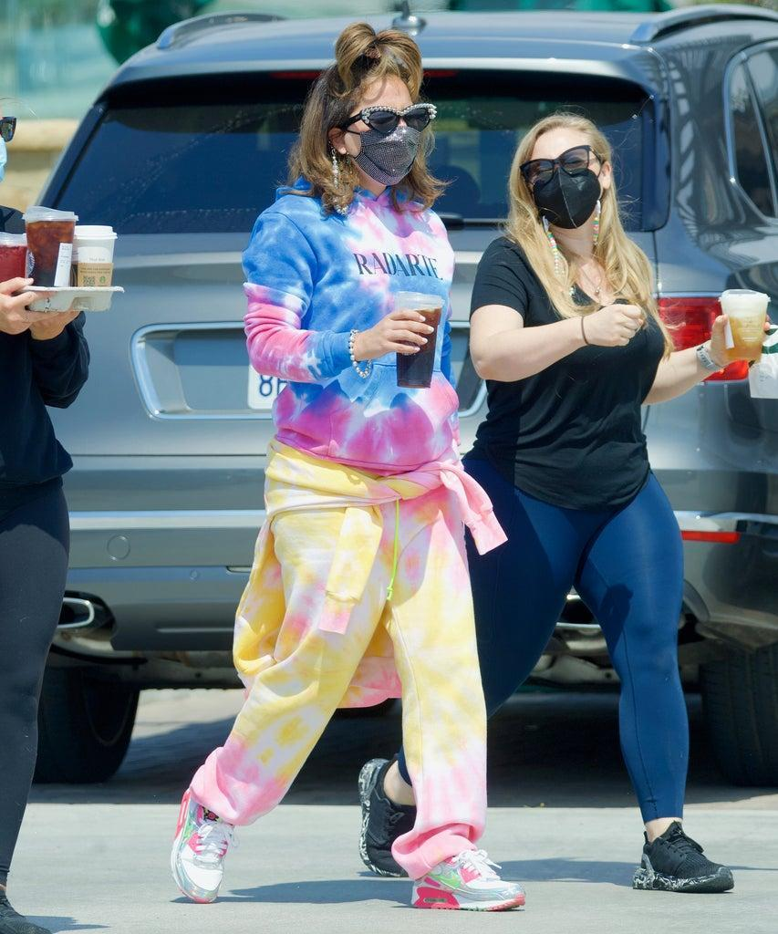 EXCLUSIVE: Lady Gaga Turns Heads in Colorful Tie Dye Sweatsuit as She Reunites with Boyfriend Michael Polansky After Months of Filming in Rome. The 35-year-old pop diva stepped out in Los Angeles after flying back to the US and was seen with her beau in their flashy Tesla. No doubt she's glad to get back on her home turf after a dramatic few months with the theft of her precious French bulldogs while she was busy working in Europe. Pictured: Lady Gaga Ref: SPL5227587 180521 EXCLUSIVE Picture by: DIGGZY/JP / SplashNews.com Splash News and Pictures USA: +1 310-525-5808 London: +44 (0)20 8126 1009 Berlin: +49 175 3764 166 photodesk@splashnews.com World Rights, No Portugal Rights, No Russia Rights