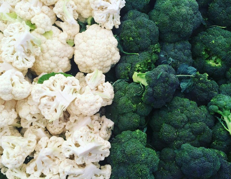 """<p>Need a reason to add cauliflower into your diet? It's packed with cancer-fighting glucosinolates, the <a href=""""https://www.cancer.gov/about-cancer/causes-prevention/risk/diet/cruciferous-vegetables-fact-sheet"""" rel=""""nofollow noopener"""" target=""""_blank"""" data-ylk=""""slk:National Cancer Institute"""" class=""""link rapid-noclick-resp"""">National Cancer Institute</a> reports.</p><p><strong>Recipe to try:</strong> <a href=""""https://www.womansday.com/food-recipes/food-drinks/recipes/a60491/roasted-cauliflower-salad-recipe/"""" rel=""""nofollow noopener"""" target=""""_blank"""" data-ylk=""""slk:Roasted Cauliflower Salad"""" class=""""link rapid-noclick-resp"""">Roasted Cauliflower Salad</a></p>"""
