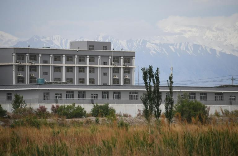 A facility believed to be a reeducation camp north of Akto in China's northwestern Xinjiang region is shown in this photo taken in June 2019