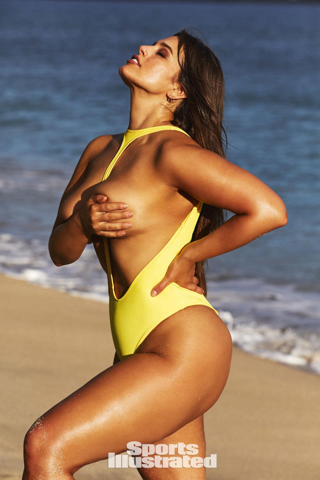 "<p>Ashley Graham was photographed by Josie Clough in Nevis. Swimsuit by <a href=""http://www.peixotowear.com"" rel=""nofollow noopener"" target=""_blank"" data-ylk=""slk:PEIXOTO"" class=""link rapid-noclick-resp"">PEIXOTO</a>.</p>"