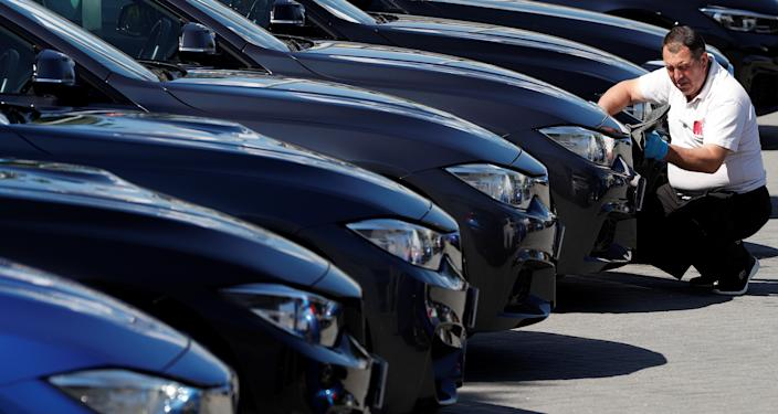 New car sales are down almost 50% in 2020 so far. Photo: Adrian Dennis/AFP via Getty Images
