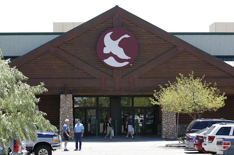 The Gander Mountain store in Aurora, Colo. is shown, Sunday, July 22, 2012. The is store is where the gunman in Friday's movie theater shooting allegedly purchased one of his weapons. (AP Photo/Ted S. Warren)
